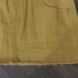 American Rag Skirts - American Rag Mustard Distressed Fray Skirt Size 1